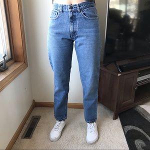 VINTAGE Gap High Waisted Mom Jeans Light Wash